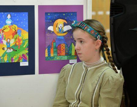 Kiállítás a Szent Lőrinc Katolikus Iskola tanulóinak alkotásaiból